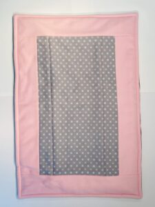Grey Dots and Pink