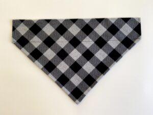 black grey stripe plaid