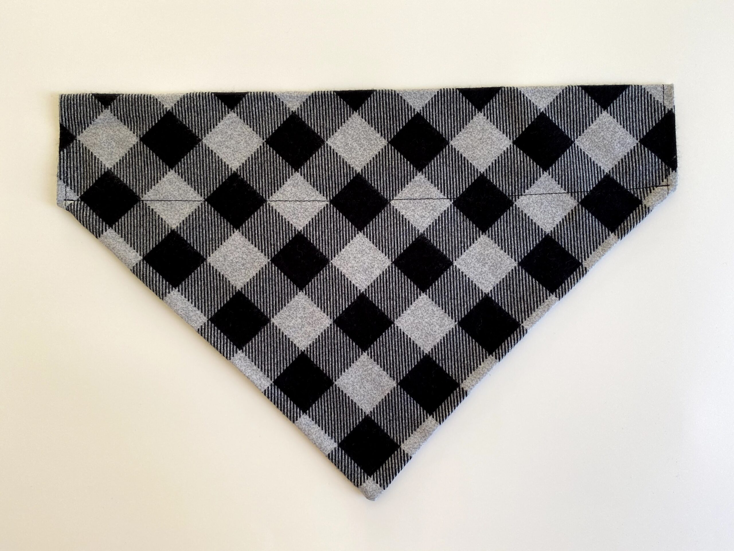 black grey stripe plaid