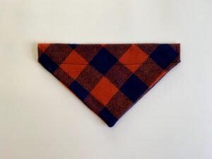orange navy plaid