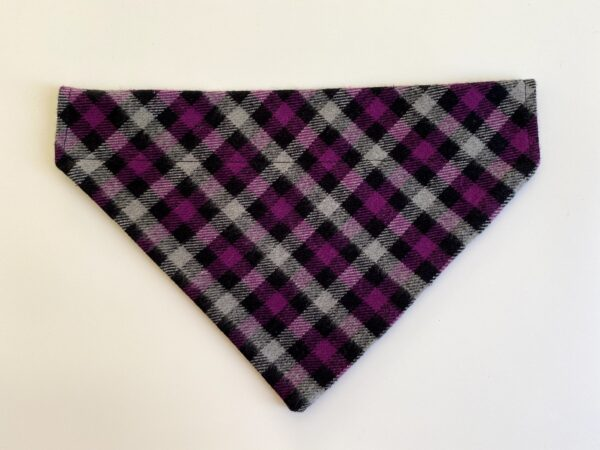 purple black plaid