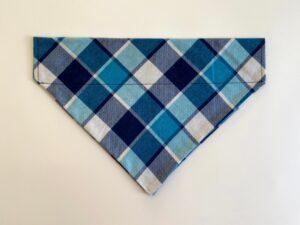 blue navy stripe plaid